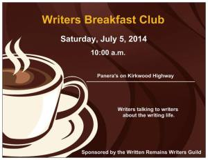 Writers Breakfast - 7:5:14